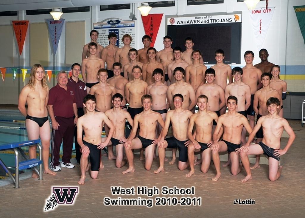High School Boys Swimming School Boys Swim Team